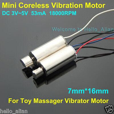 DC 3.7V 18000RPM Mini Waterproof Vibration Motor Coreless Motor Vibrator