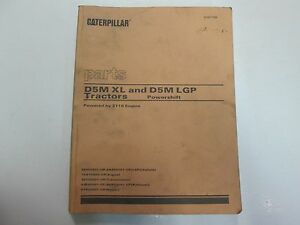 Caterpillar-D5M-XL-amp-D5M-LGP-Tractors-Powershift-Parts-Manual-OEM-x