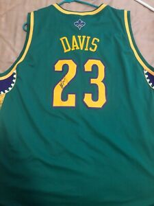 separation shoes 3e791 33790 Details about Anthony Davis Signed NOLA jersey Pelicans XXL Green Purple  Yellow In person auto