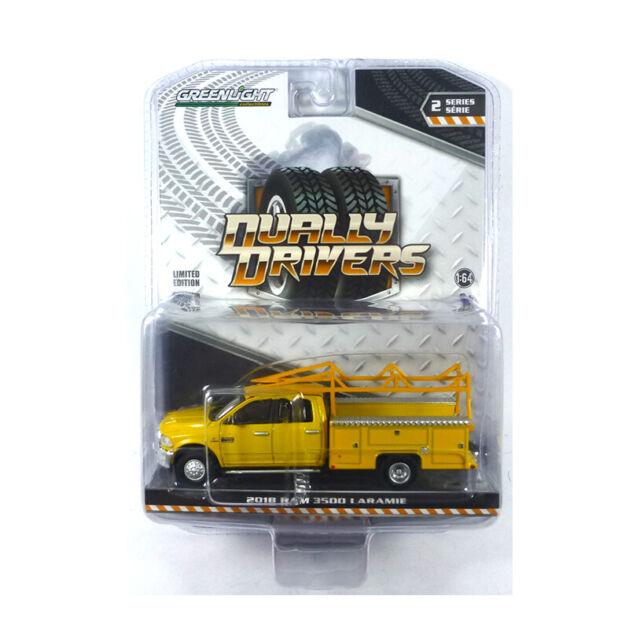 Greenlight 46020-C Dodge RAM 3500 Laramie Yellow - Dually Drivers 1:64 New !°
