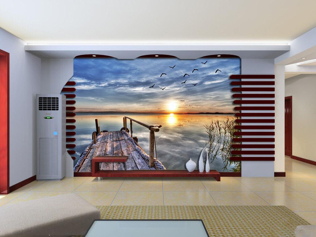 3D Sky Sea Bird 717 Wallpaper Mural Paper Wall Print Wallpaper Murals UK