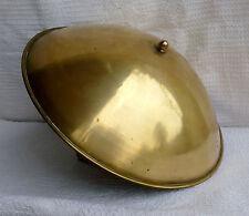ancienne vasque/ coupole de cuivre XIX° / pour lampe de bureau ou éclairage ind