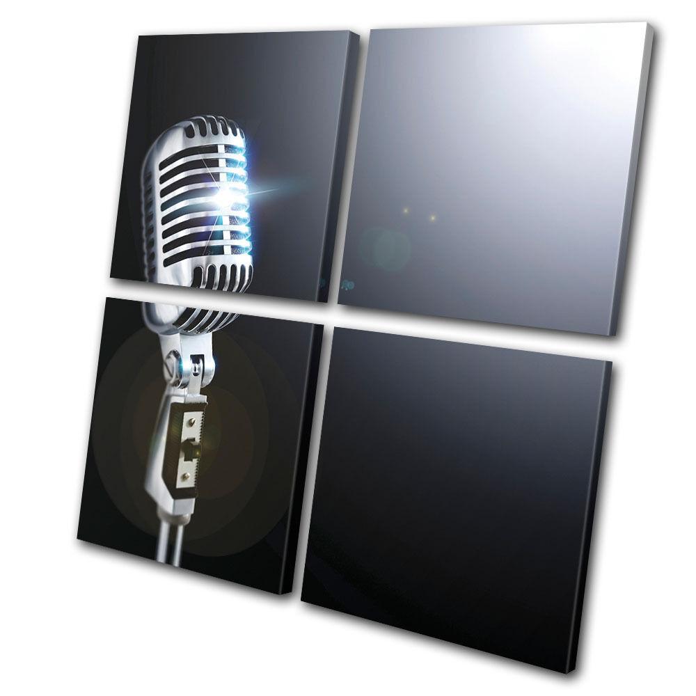 Musical Microphone  MULTI LONA pa rojo  Microphone arte Foto impresion 48e31d