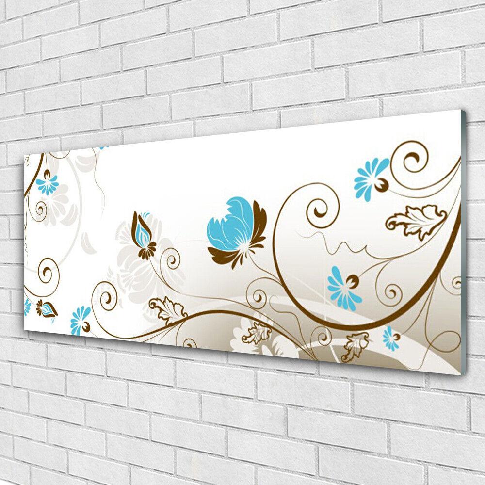 Tableau Murale Impression Sous Verre Verre Sous 125x50 Art Abstrait