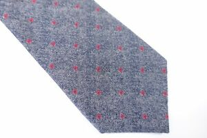 065d6dc5083b CALVIN KLEIN CK SQUARE DOTTED RED BLUE GRAY 100% SILK 3 INCH WIDTH ...