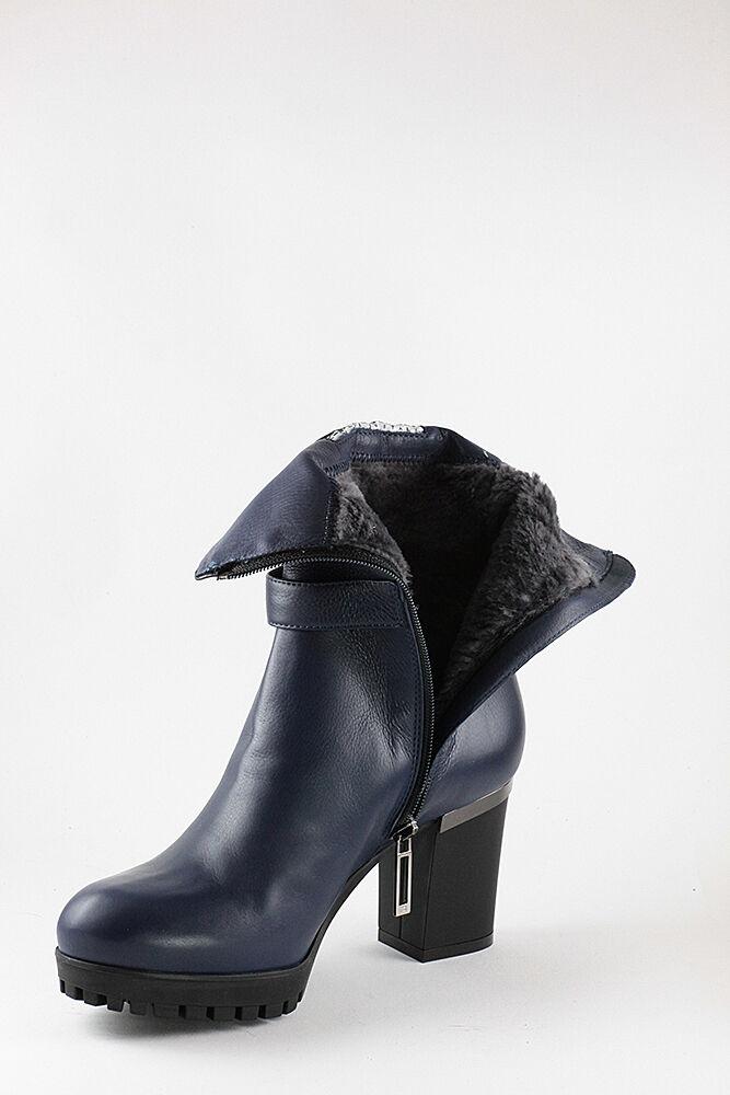 Marino Fabiani Leather Italian Stiefel New Winter Blau Fur Fur Fur Größes 5,6,11 6ad41e