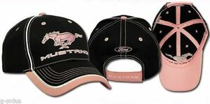 NEW EMBROIDERED FORD MUSTANG GT COBRA SVT MACH 1 BLACK PINK HAT CAP ... 20ea42b44aa0