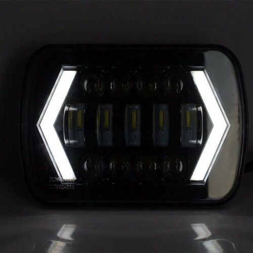 """120W 7x6 5X7/"""" LED Projector Headlight HiLo Beam Halo DRL For Jeep Cherokee Truck"""