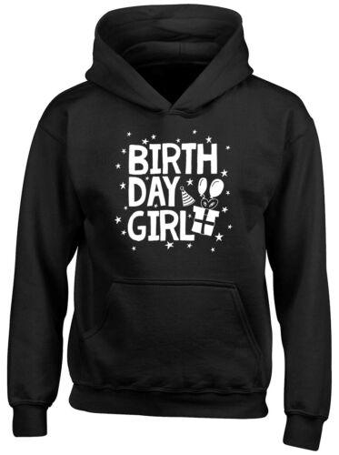 Birthday Girl Childrens Kids Hooded Top Hoodie