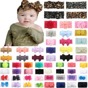 Girls-Baby-Toddler-Turban-Cute-Headband-Hair-Band-Bow-Accessories-Headwear-AU