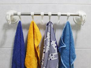 Portasciugamani Bagno Muro : Porta asciugamani da parete con ventosa posti bianco a muro