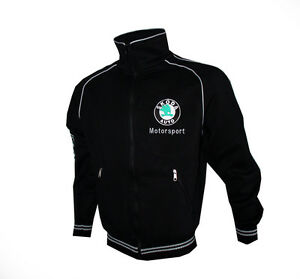 skoda motorsport schwarz fleece jacke jacket gesticktem. Black Bedroom Furniture Sets. Home Design Ideas