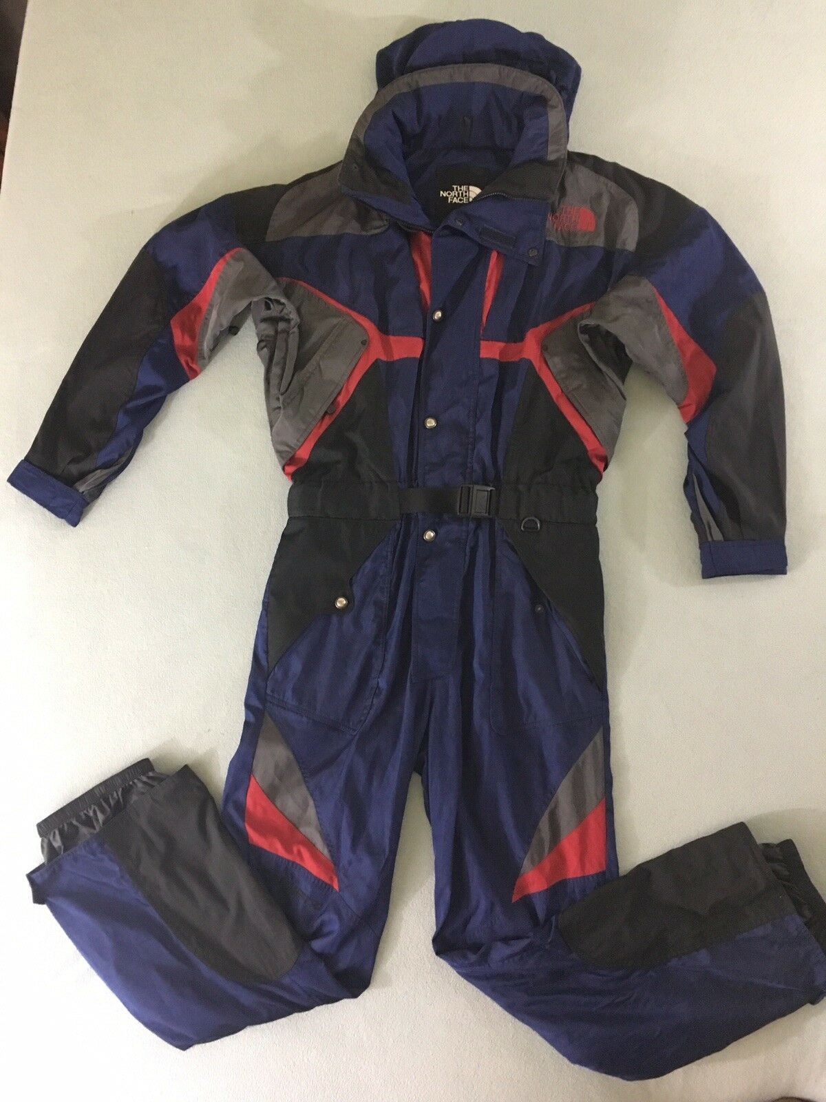 Vintage The North Face Extreme  One Piece Snow Ski Suit W  Hood Mens Large  shop online today