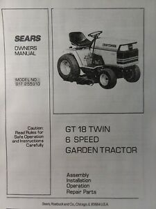 Pleasing Sears 1985 Craftsman Gt 18 6 Lawn Garden Tractor Owner Parts Wiring Cloud Oideiuggs Outletorg