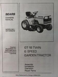 sears 1985 craftsman gt 18 6 lawn garden tractor owner \u0026 parts Old Sears Craftsman Garden Tractors