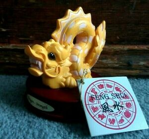 Vintage-2000-Carlton-Cards-YEAR-OF-DRAGON-Desktop-Feng-Shui-STRENGTH-Statue