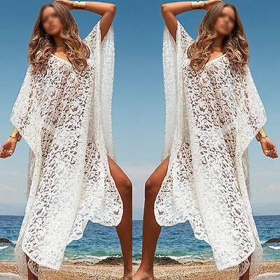 Womens Sexy Swimwear Beach Lace Bikini Beach Wear Cover Up Kaftan Ladies Dress