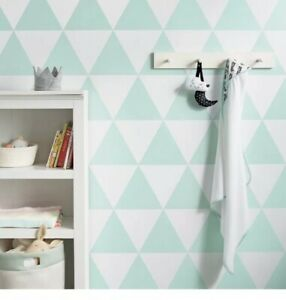 Details About 1 Roll L Stick Wallpaper Large Triangles Mint Green Cloud Island Baby Room