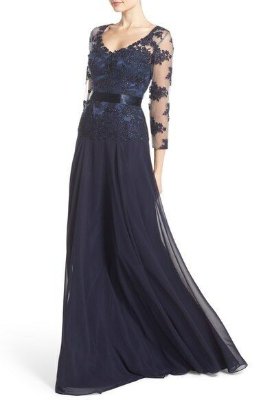 JS Collections Embellished Mock Two-Piece Gown (Größe 8)