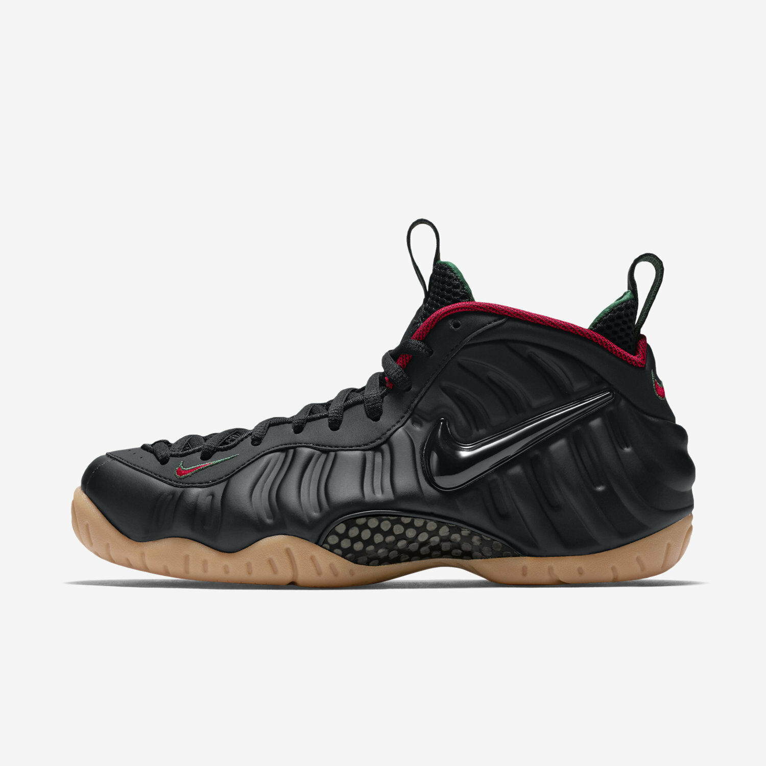 Nike Air Foamposite Pro Men's Basketball Shoe - Black Red Green 624041-004