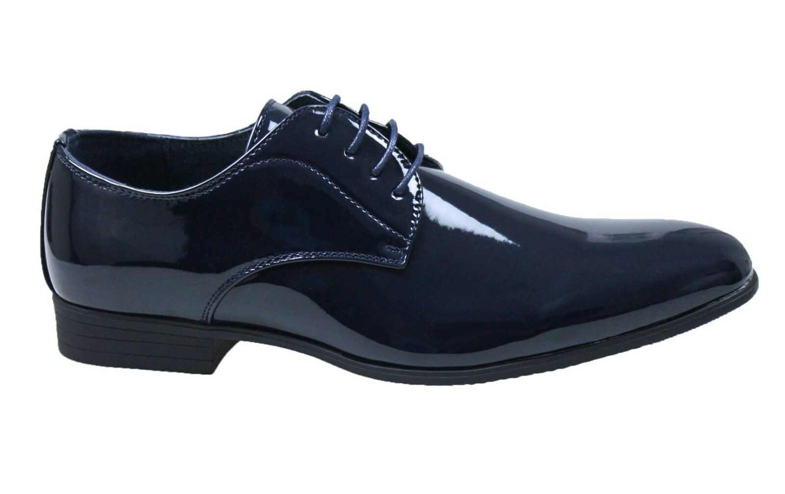 Men's shoes Diamond Class dark bluee polished paint formal elegant ceremony