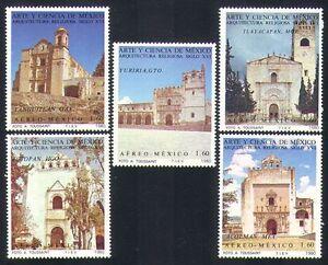 Mexico-1980-Tourism-Art-Churches-Abbey-Buildings-Architecture-5v-set-n34077