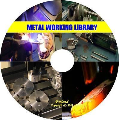 Metal Work:Machinist Lathe Welding Foundry Forge Blacksmith Metallurgy CD DVD