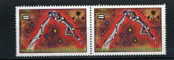 GéNéReuse Aquarius >> Maldives, - Paire Hor. >> 1974