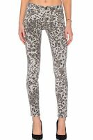 NWT CURRENT ELLIOTT Sz28 THE WELT POCKET SKINNY ANKLE STRETCH-JEANS GREY LEOPARD