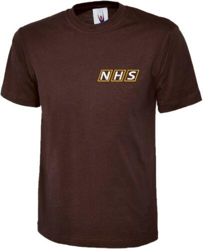 National Health Services NHS uniforme brodé Workwear personnel T Shirt XS-6XL