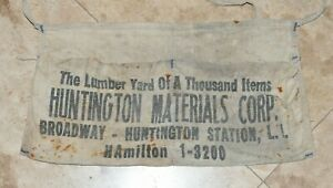 Vintage Advertising Apron Waist Tied Antique Portland Maine New England Work Wear Tool Pouch