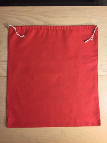 """4/""""x6/"""" Cotton Double Drawstring Muslin Bags Red Color"""