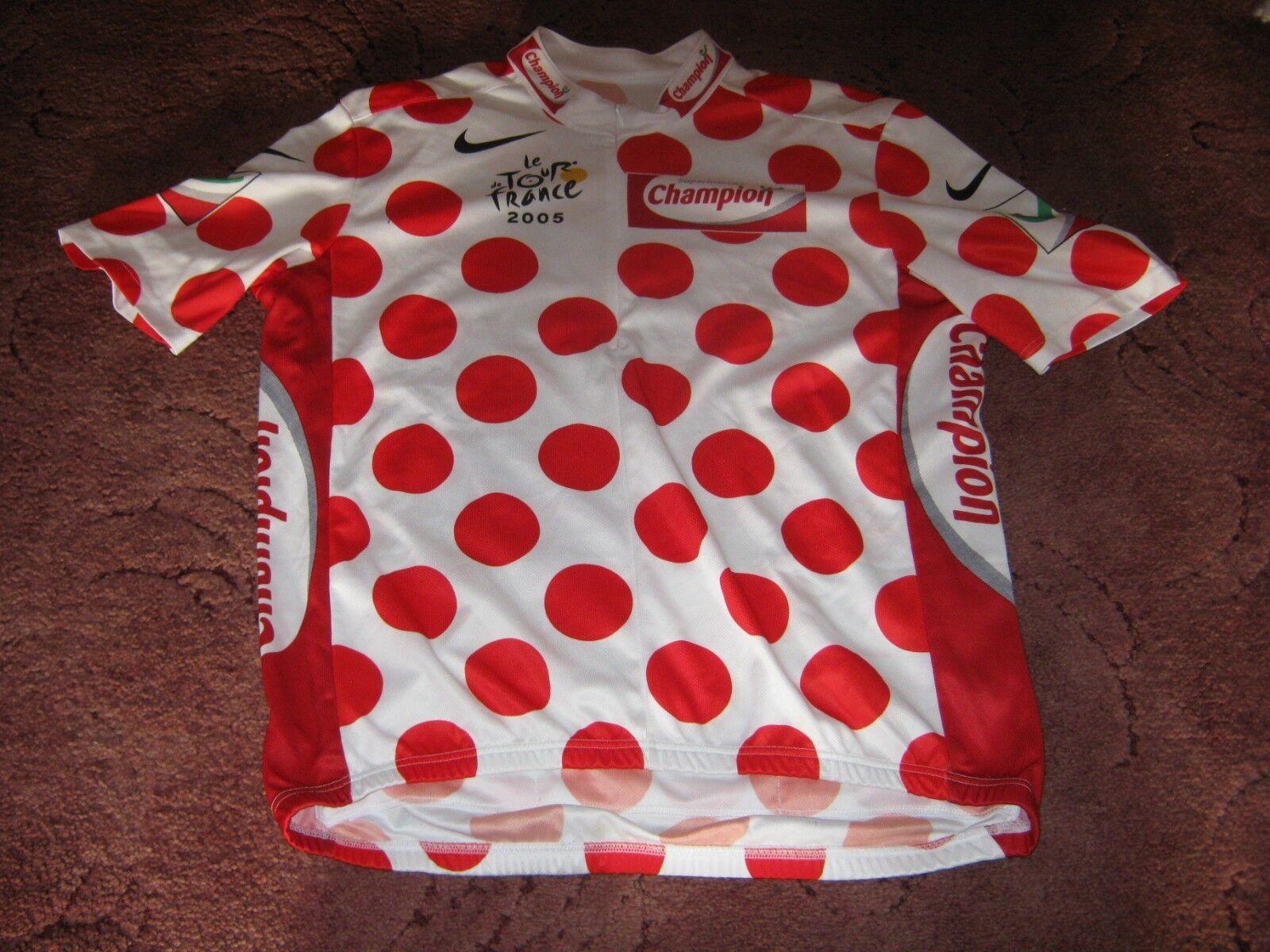 TOUR DE FRANCE 2005 POLKA DOT KOM NIKE  ITALIAN CYCLING JERSEY [XXL]  shop online today
