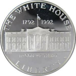 1992-W-1-White-House-Commemorative-Silver-Dollar-US-Coin-Choice-Proof