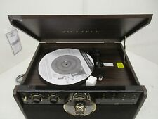 VICTROLA 6-IN-1 WOOD BLUETOOTH RECORD PLAYER W/ 3-SPEED TURNTABLE- QQQ 437
