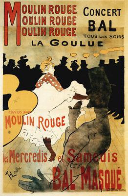 Moulin Rouge vintage theatre poster repro 24x36