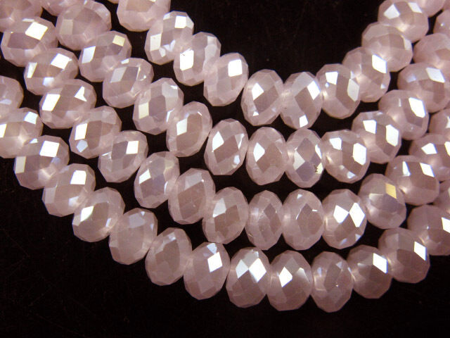 Bulk 50Pcs 8x6mm Rondelle Faceted Crystal Glass Loose Beads Spacer Finding 2New