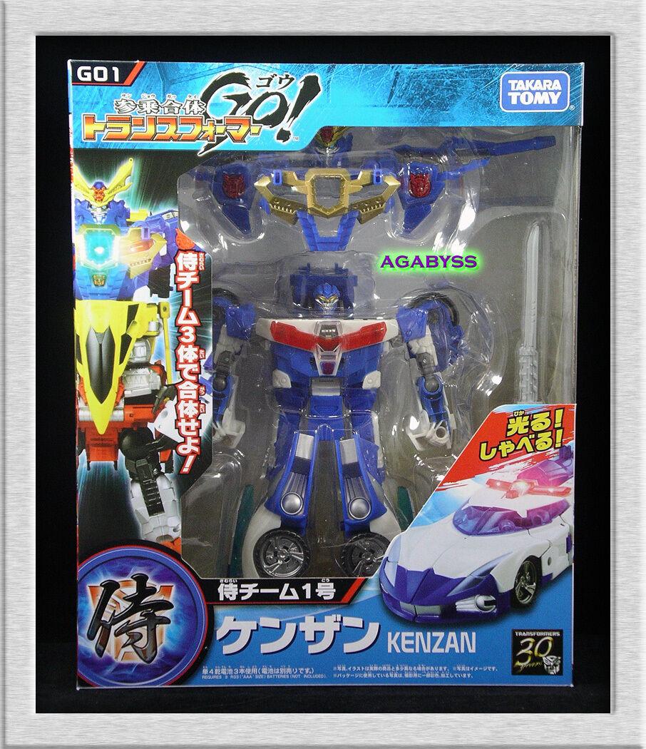 Takara Tomy Transformers GO  Swordbots Samurai Team G01 Kenzan Police car in USA
