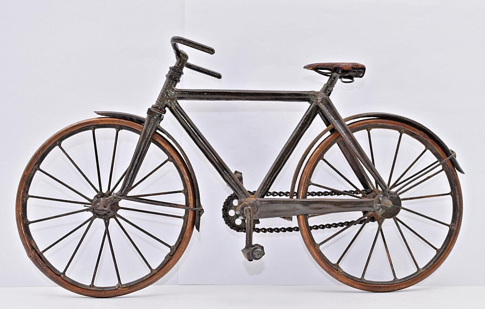 Model metal bike crafts copper old