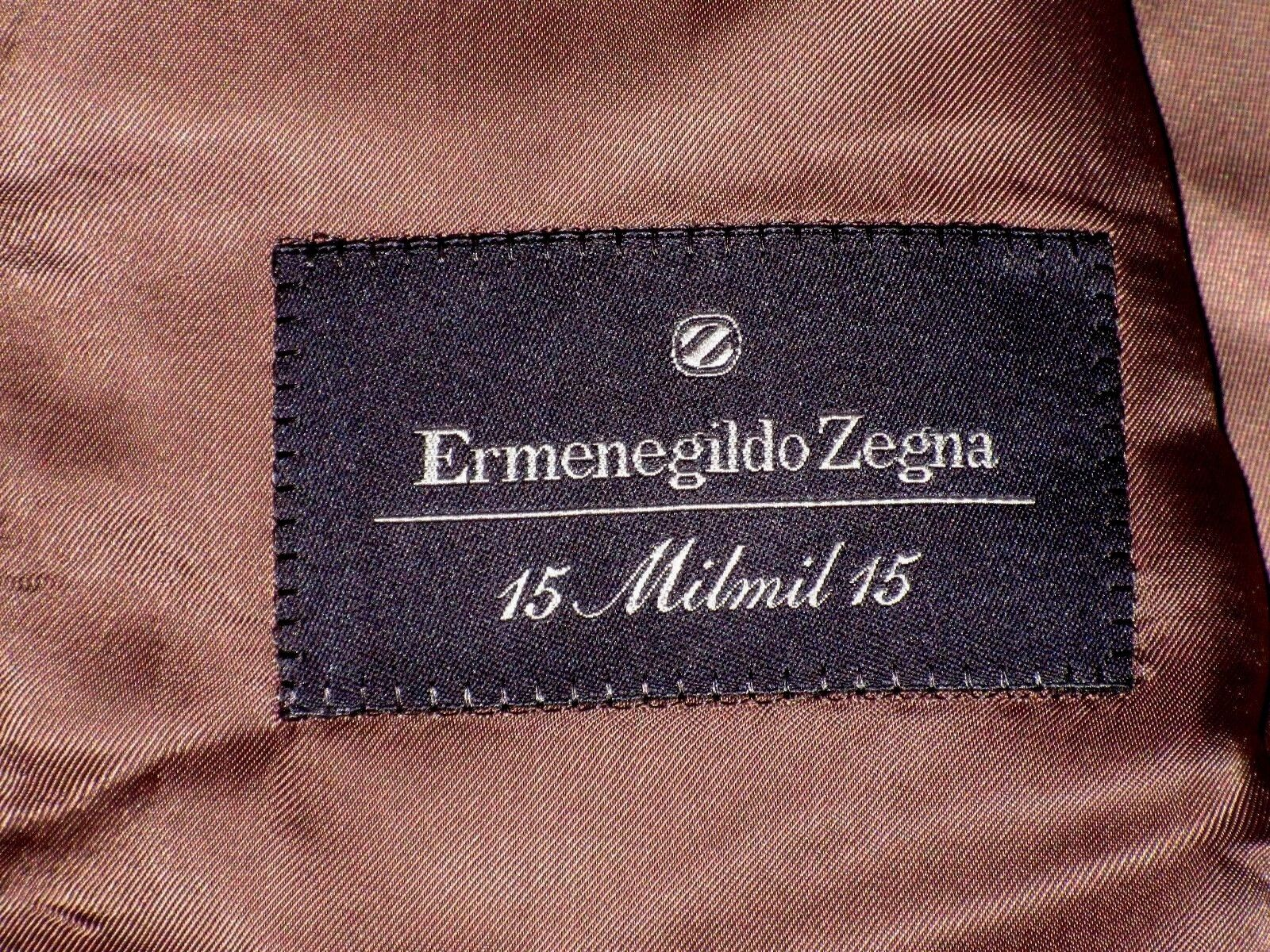 Ermenegildo Zegna 15 MILMIL 15 Wool Beige 3 Button Luxury Blazer Sport Coat 42L