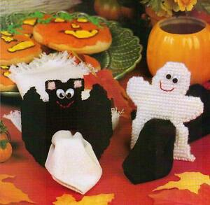 image is loading spooky napkin rings bat ghost halloween plastic canvas