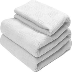 utopia bedding white king size 100 cotton breathable thermal throw blanket ebay. Black Bedroom Furniture Sets. Home Design Ideas