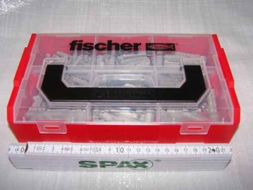 Fischer Chevilles Assortiment 210 Pièces FIXTAINER Sx-chevilles sx6 sx8 sx10 L-Boxx Mini