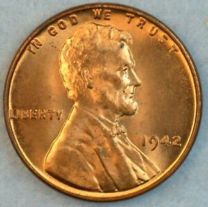 1942 P Lincoln Wheat Cent UNCIRCULATED BU UNC GEM FAST S&H 36112