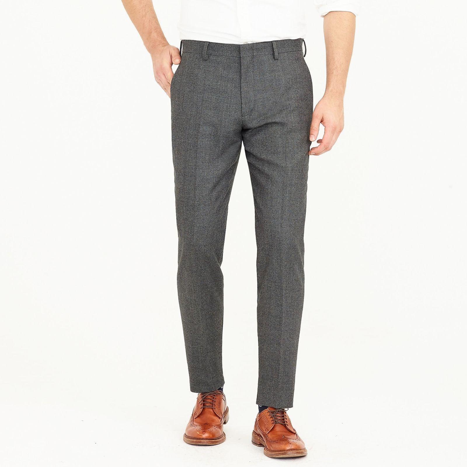 J.Crew Ludlow Slim Suit Pant In Italian Stretch Wool   34 34   Warm Grey