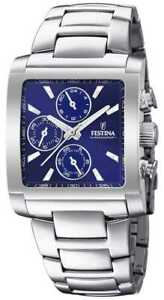 Festina | Mens Stainless Steel Chronograph | Blue F20423/2 Watch - 8% OFF!