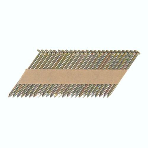 Fixman 50mm 34° Galvanised Ring Shank Collated Nails Air Framing Nailer 672632