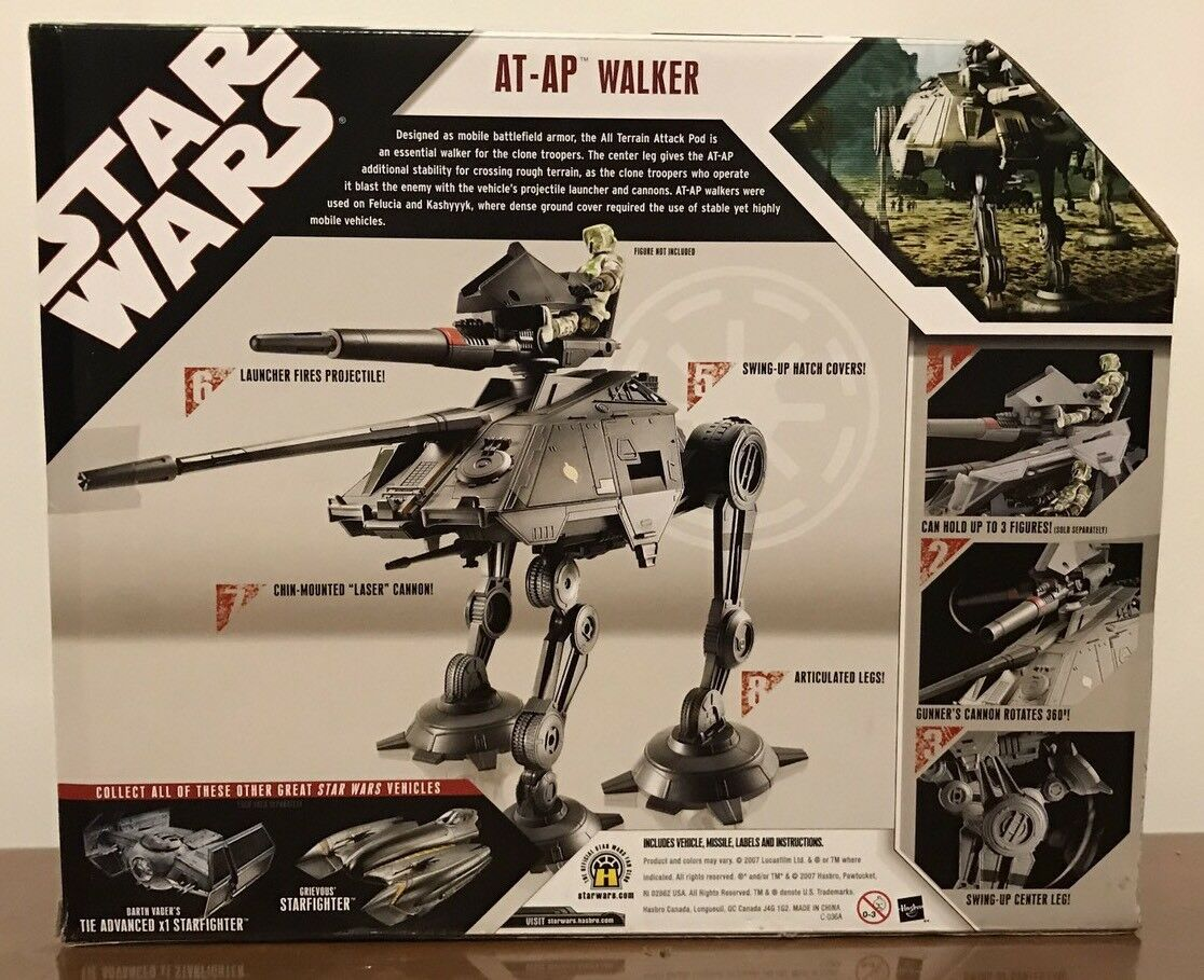Star Wars 30th Anniversary Anniversary Anniversary Saga 2007 Vehicle AT-AP Republic Walker NEW SEALED cb1535