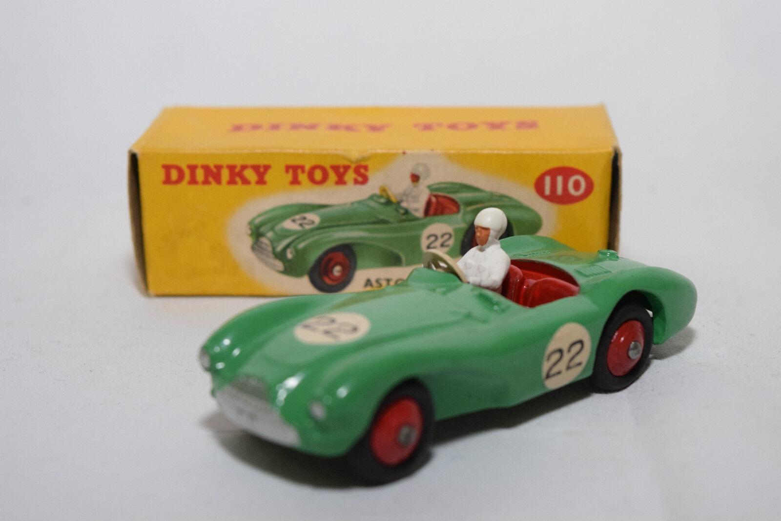 P Dinky Toys 110 aston martin db3 Sports vert Comme neuf EN BOÎTE RARE RARE