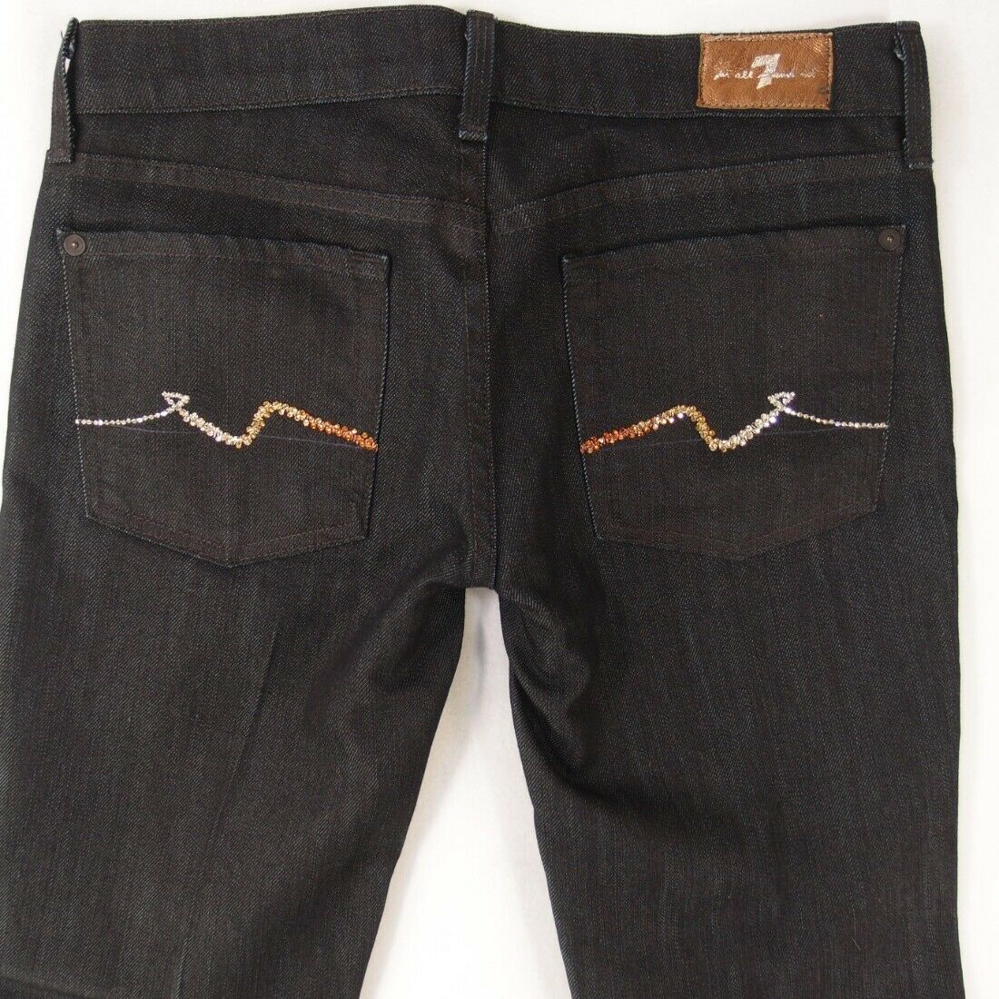 Ladies Seven 7 for All Mankind STRAIGHT Stretch bluee Jeans W27 L30